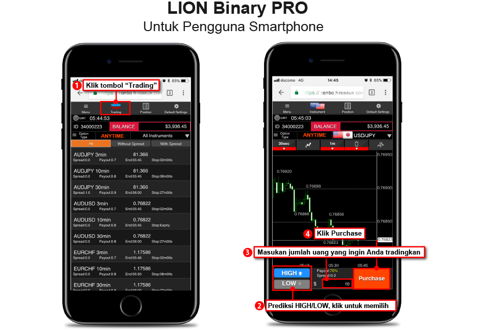 Cara deposit lion binary option