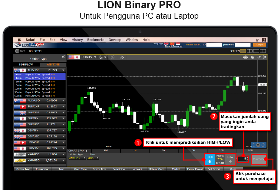 Cara daftar lion binary option